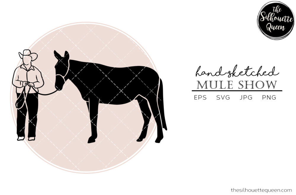 Hand drawn Mule Show  Vector Sketch