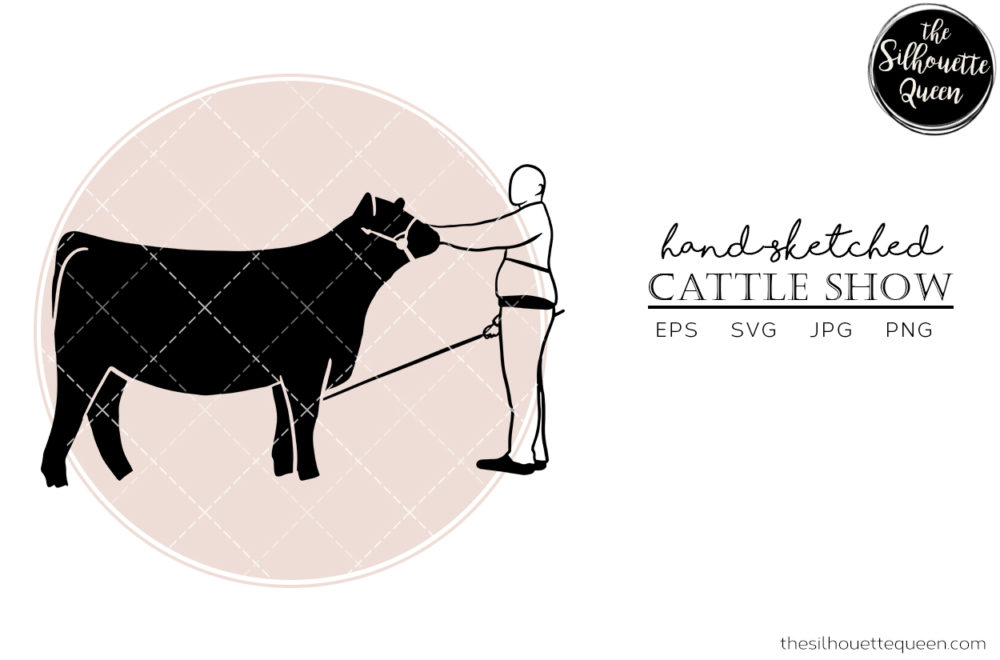 Hand drawn Cattle Show  Vector Sketch