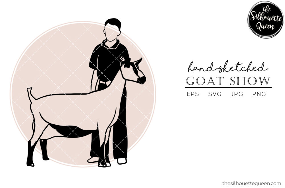 Hand drawn Goat Show  Vector Sketch