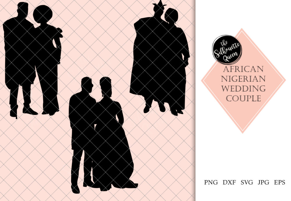 African Weddings Couple  Svg