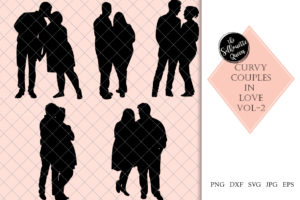 Curvy | Chubby |Heavy  Couples 2  Svg