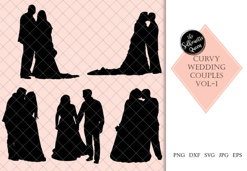 Curvy | Chubby |Heavy  Wedding Couple Svg