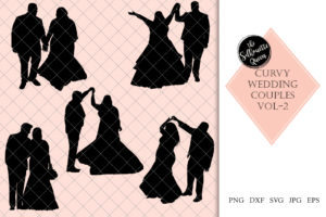 Curvy | Chubby |Heavy  Wedding Couple 2 Svg