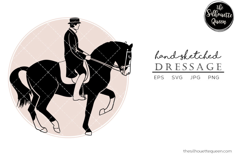 Hand drawn Dressage  Vector Sketch