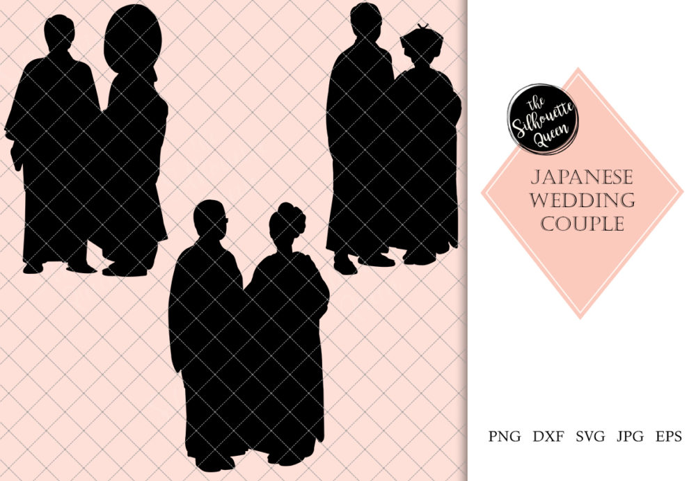 Japanese Wedding Couple  Svg
