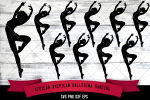 African American Ballerina Dancing  SVG - Black Woman Dancing