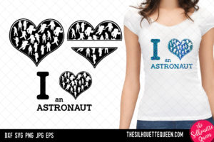 Astronaut heart SVG