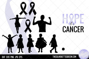 Breast and Childhood Cancer Awareness svg