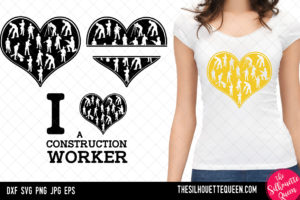 Construction Worker heart SVG