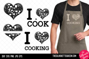 Cooking heart SVG