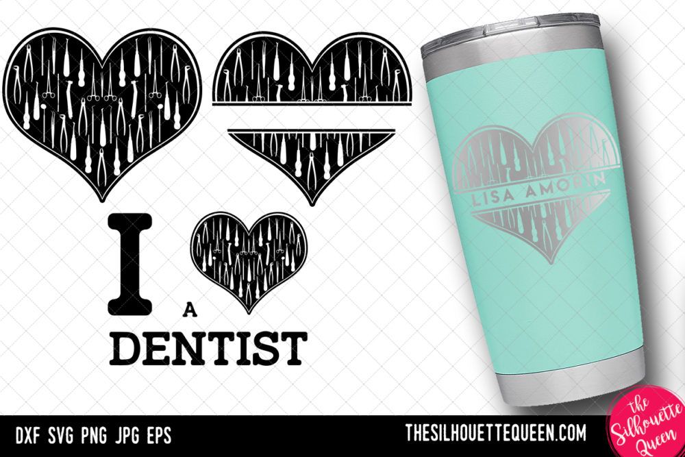 Dentist heart SVG