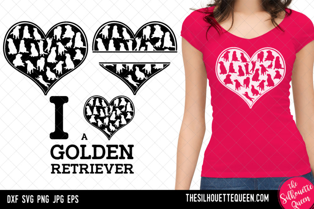Golden Retriever heart SVG