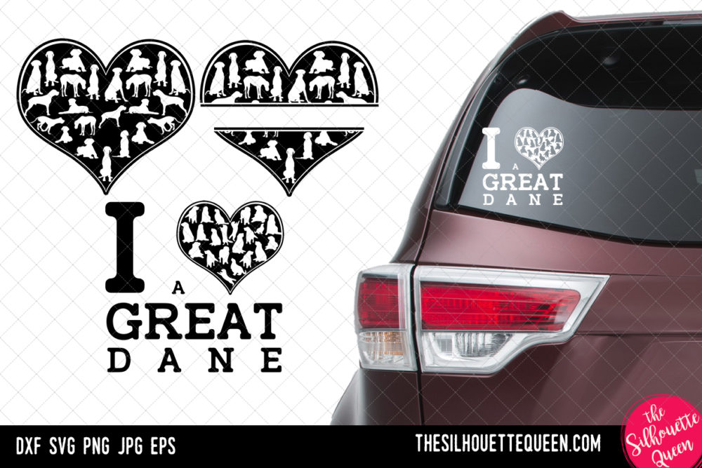 Great Dane heart SVG
