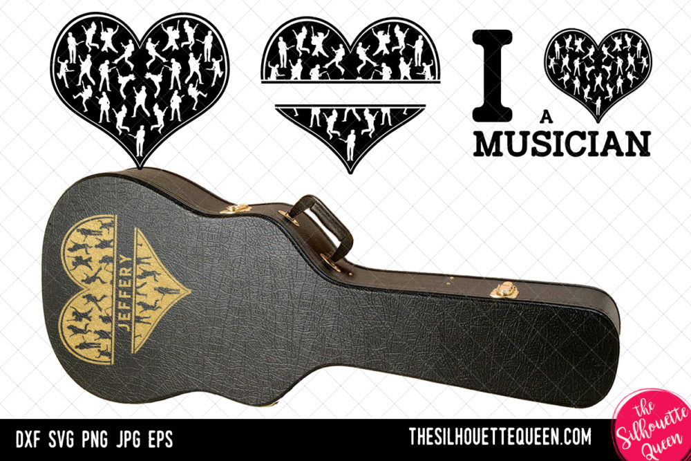 Guitarist heart SVG