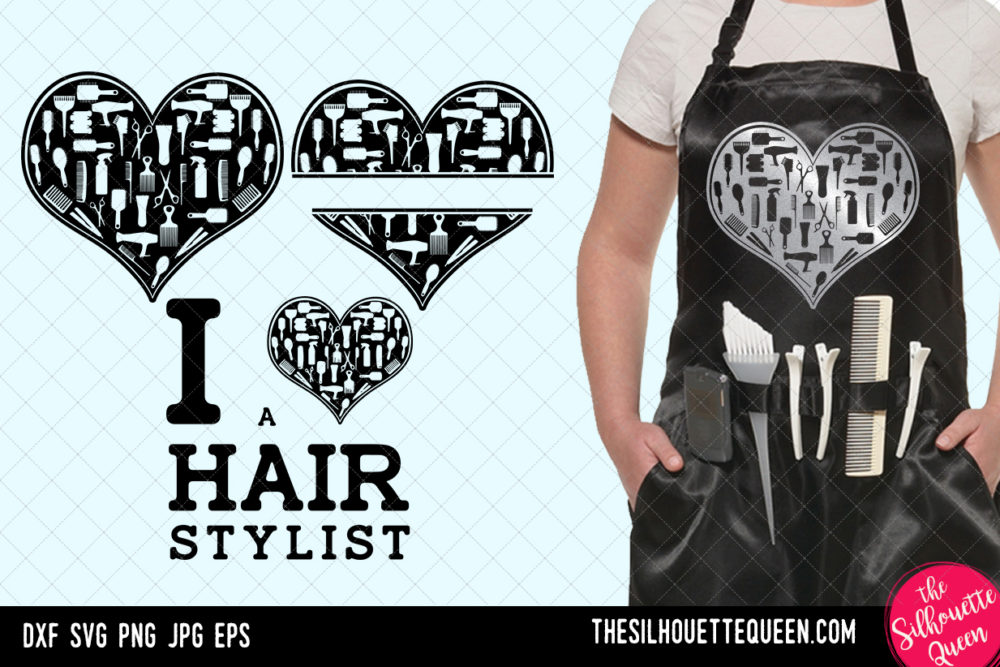 Hairdresser heart SVG