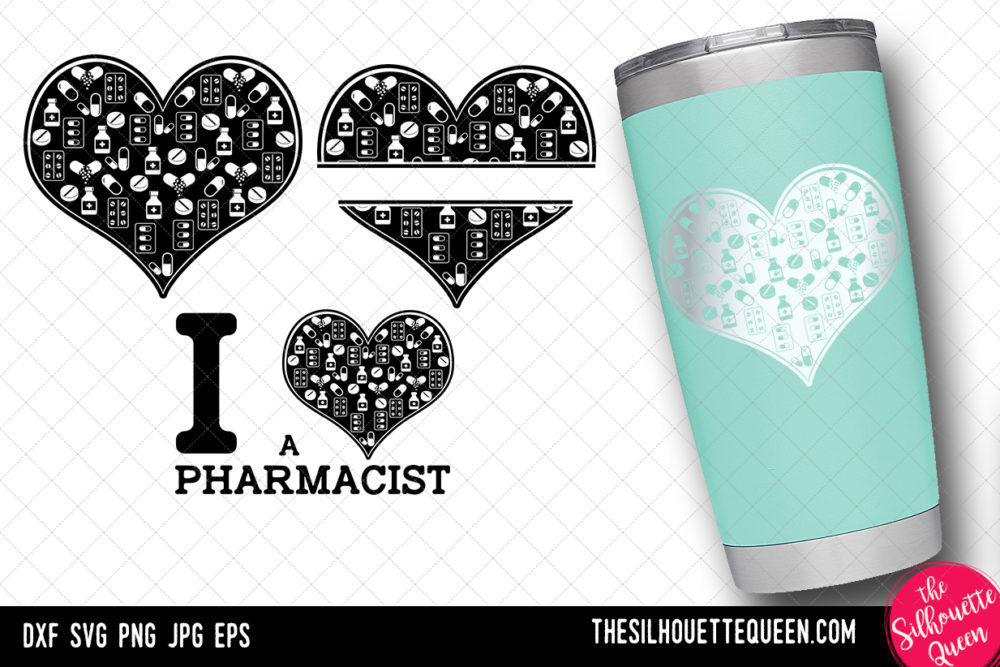 Pharmacist heart SVG