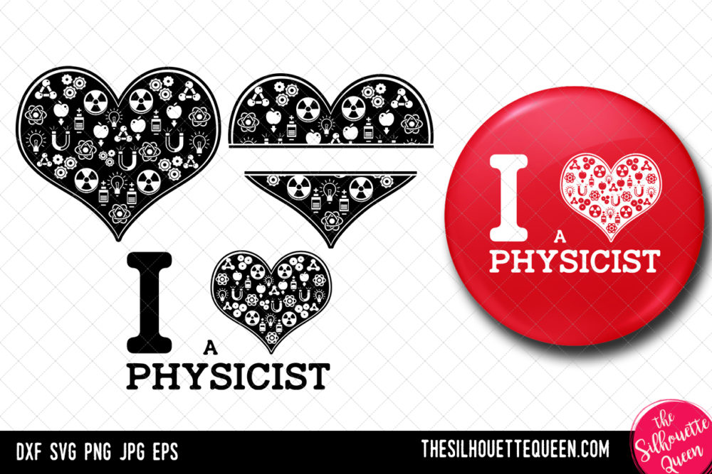 Physicist heart SVG