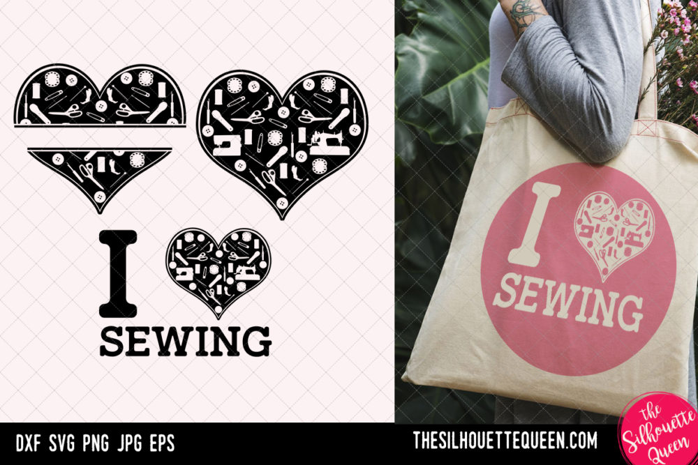 Sewing heart SVG