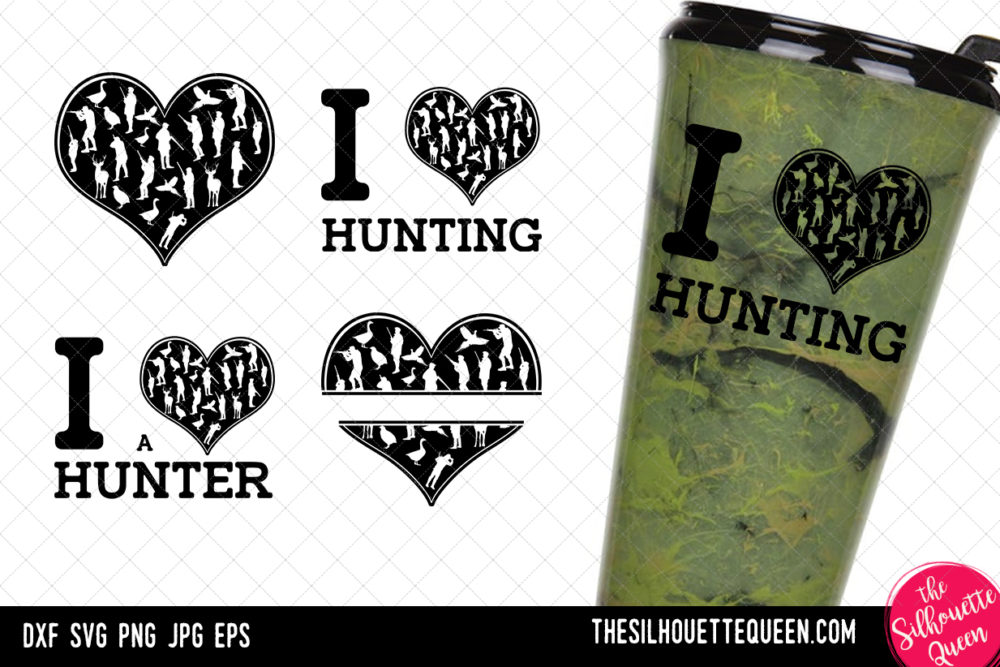 Hunting heart SVG