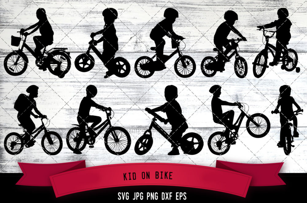 Kid on Bike svg