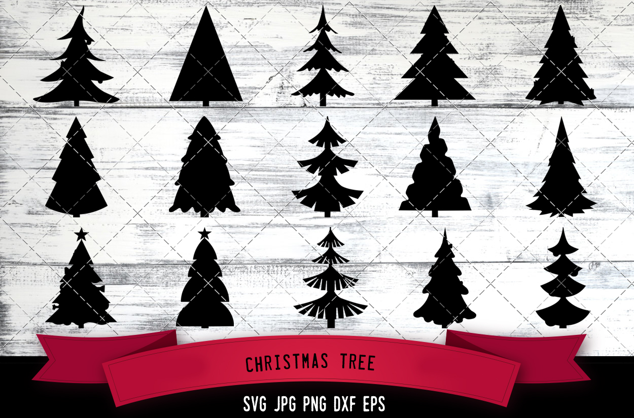 Christmas Tree Svg Christmas Svg Pine Tree Svg Fir Tree Svg Spruce Tree Svg Holiday Svg Cut Files For Cricut Silhouette Design Svg Png Dxf The Silhouette Queen