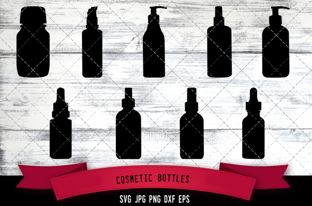 Cosmetic bottles svg