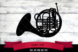 French horn svg