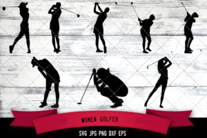 Women Golfer svg
