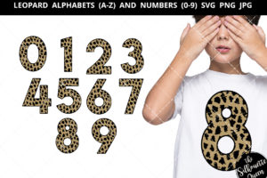 leopard number 0-9 svg