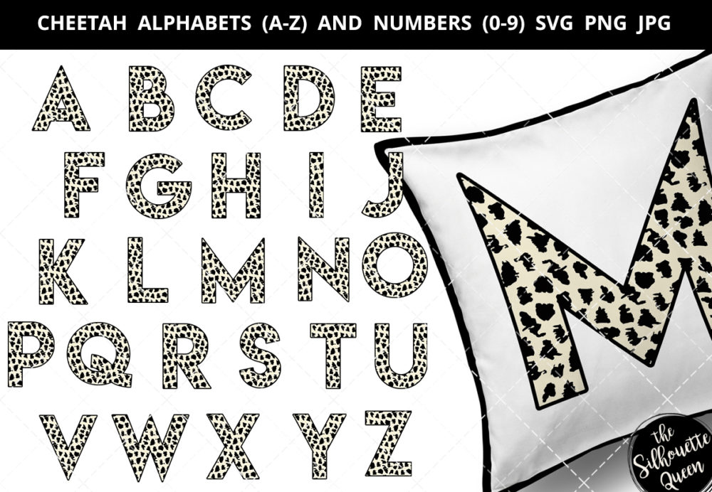 Cheetah alphabet a-z svg