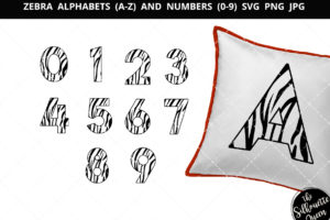 zebra number 1-9 svg