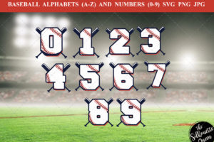 baseball number 1-9 svg