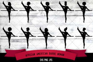 African American Barre women svg