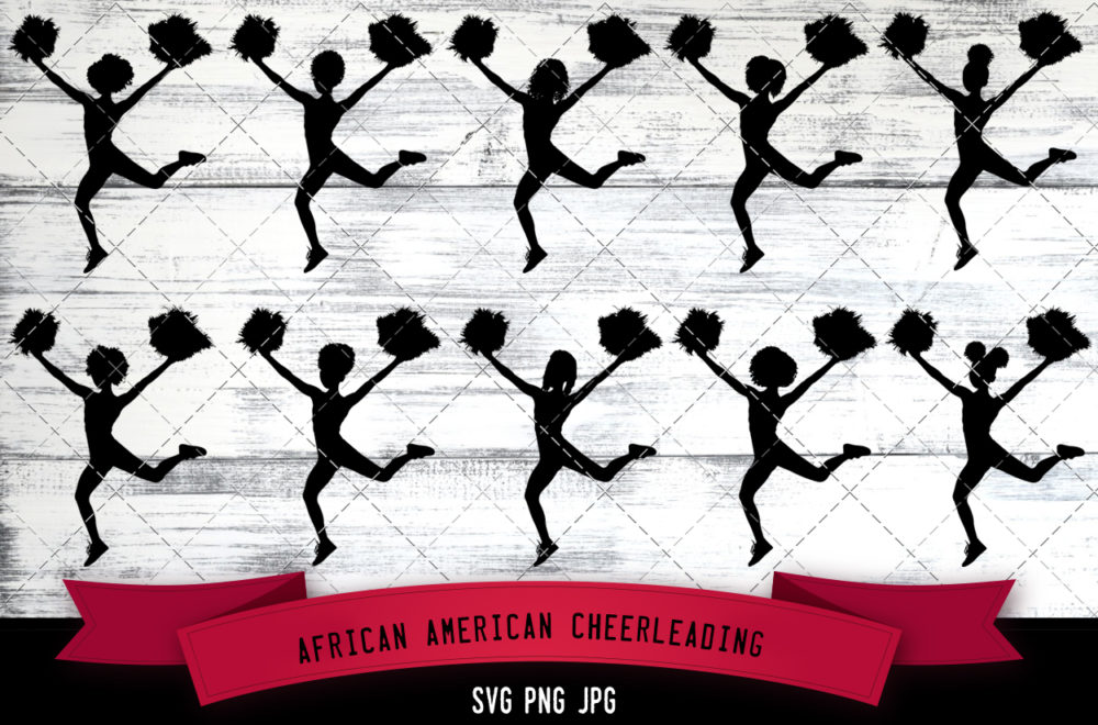 African American cheerleading svg
