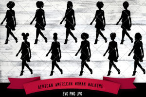 African American Woman Walking