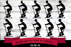 African American woman on exercycle
