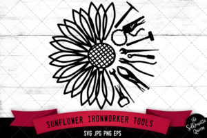 Half Sunflower svg