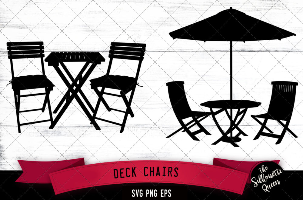 Deck chairs svg