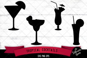 Tropical cocktails svg