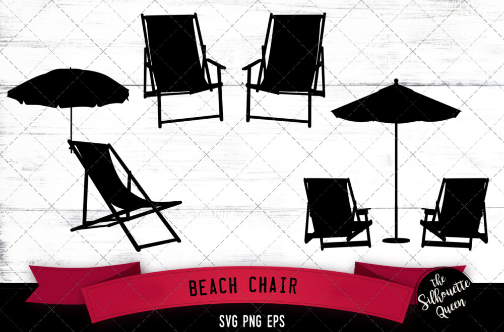 Beach chair svg