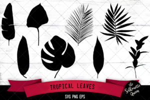 Tropical leaves svg