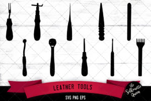 Leather tools svg