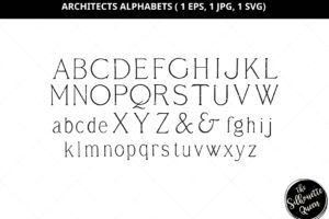 Architects Alphabets Silhouette Vector