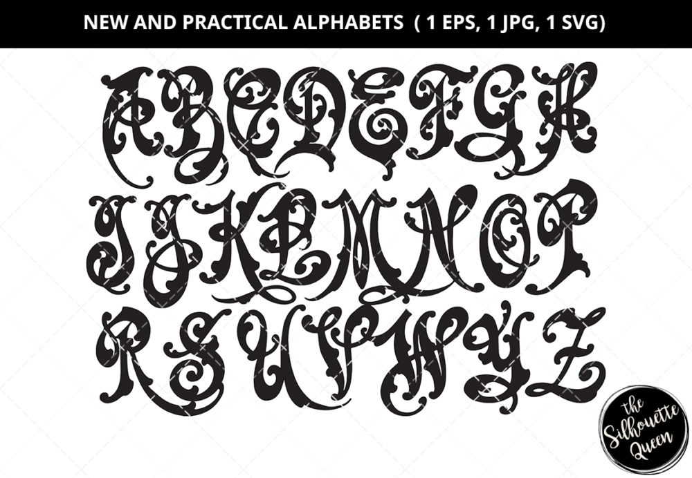 New and Practical Alphabet Silhouette Vector