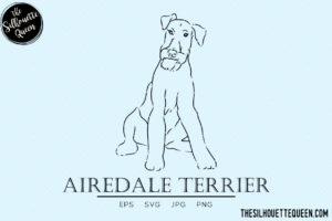 Airedale Terrier 1 svg