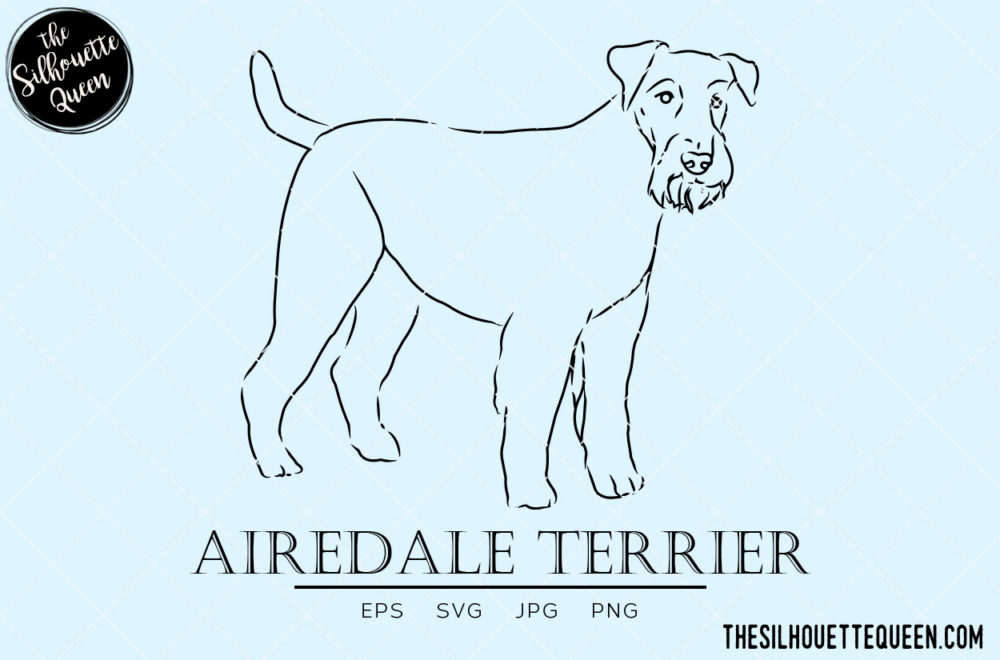Airedale Terrier 2 svg