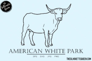 American White Park Cow svg