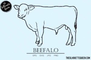 Beefalo Cow svg