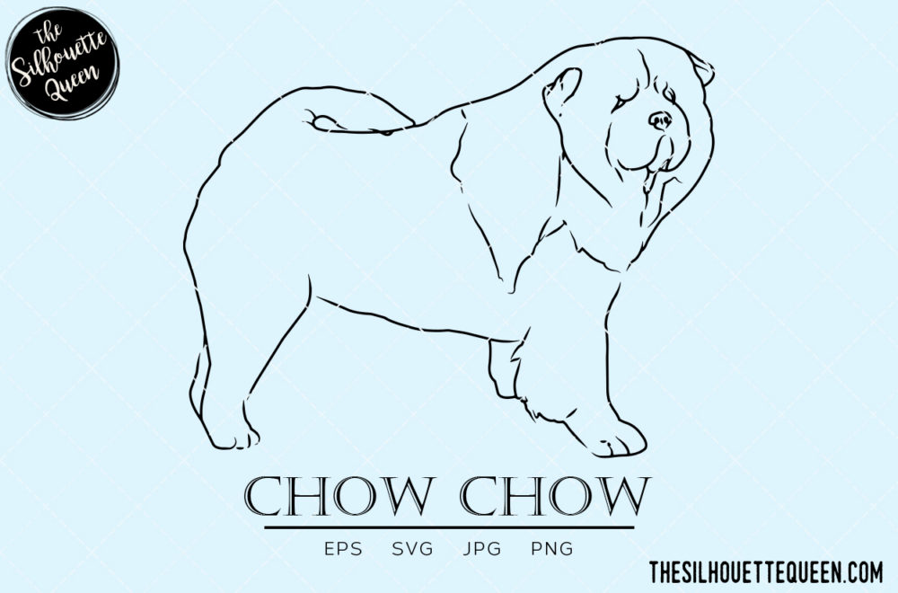Chow Chow 2 svg