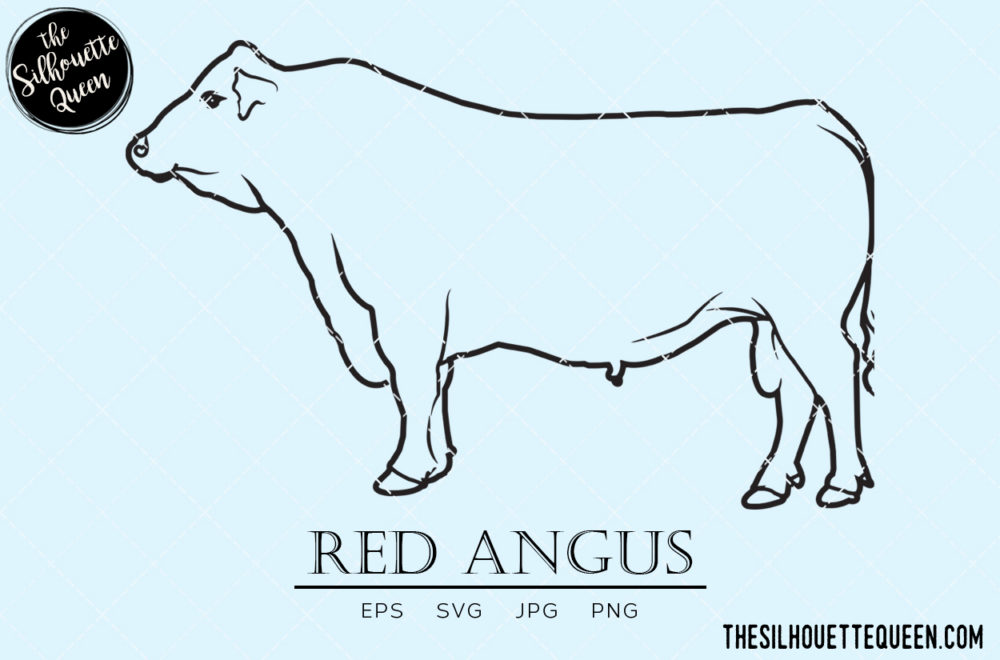 Red Angus svg